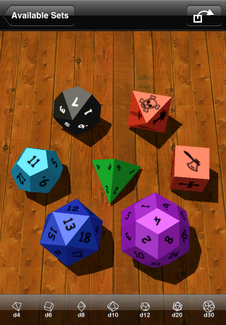 a sample set of custom symbols dice